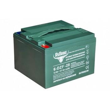 Тяговый гелевый аккумулятор RuTrike 6-DZF-28 (12V28A/H C3)
