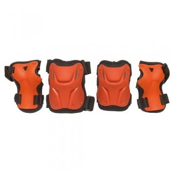 Набор защиты Tech Team Safety line 800, цвет оранжевый (размеры S, M, L)