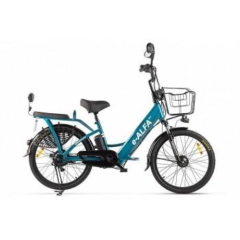 Электровелосипед Green City e-ALFA new (сине-серый матовый)